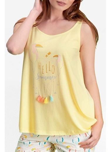 Pierre Cardin Pierre Cardin Limon Sarı Kadın Şort Takım Sarı